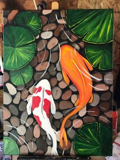 Join us for a Paint Nite event Thu Apr 2018 at 2461 S Hiawassee Rd Orlando, FL. Purchase your tickets online to reserve a fun night out! Easy Canvas Art, Simple Canvas Paintings, Small Canvas Art, Mini Canvas Art, Acrylic Painting Canvas, Koi Painting, Cavas Painting, Canvas Draw, Nature Paintings