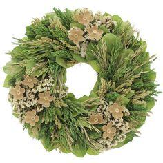 Found it at Wayfair - Retro Daisy Natural Elements Wreath Burlap Wreath, Christmas Wreaths, Daisy, Floral Wreath, Leaves, Exterior, Retro, Holiday Decor, Natural