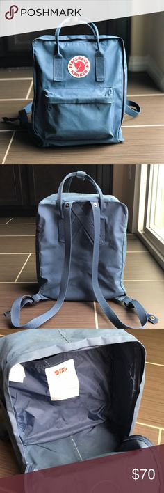 ce41cfd1c7fd3 FJÄLLRÄVEN  Kånken  Water Resistant Backpack Blue In really good condition   no scratches