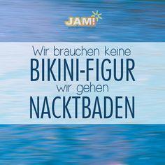Wir brauchen keine Bikini-Figur! Wir gehen nacktbaden! #summer #fun #fitness #nofilter