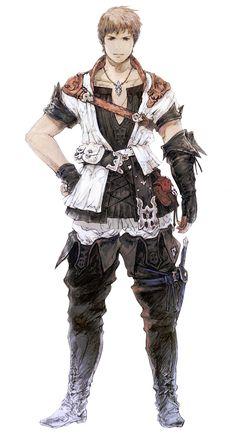 Hyur Male in Initial Gear - Characters & Art - Final Fantasy XIV: A Realm Reborn