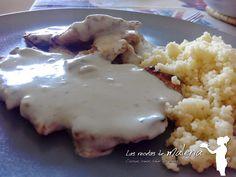 Las Recetas de Malena: Escalopines de ternera con cuscús en salsa roquefo...