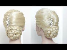 Elegant Updo. Prom Wedding Hair Tutorial - YouTube
