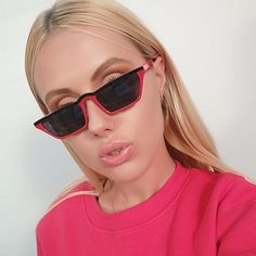 #SUNGLASSES #NEW Winla Fashion Design Women Sun Glasses Flat Top Sunglasses Square Frame Classic Shades Vintage Eyewear Oculos de sol WL1145