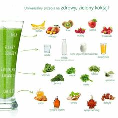 Zdrowe smothie Healthy Drinks, Healthy Eating, Healthy Recipes, Healthy Food, Getting Rid Of Bloating, Fresh Milk, Fruit Snacks, Weight Loss Meal Plan, Spirulina
