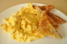 The Lady s Perfect Scrambled Eggs ( Paula Deen ) from Food.com:   								This is from Paula Deen's The Lady and Sons restaurant in Savannah, Georgia. My son prompted me on a quest for tender, perfect scrambled eggs, and this is the best I've found. I like my scrambled eggs firmly cooked, but these still stay tender. They are perfect!