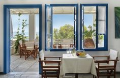 A true life story in the traditional village of Piso Livadi in Paros Island, Greece. Paros Island, Seaside Village, Window View, Hotel, Shades Of White, Greece, Traditional, Architecture, Room