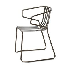 metal chair, indoor and outdoor chair, chair with armrests Garden, Gardens, Bar . Metal Outdoor Chairs, Metal Chairs, Outdoor Spaces, Outdoor Furniture Design, Garden Chairs, Metallica, Fancy, Garden Design, Valentino