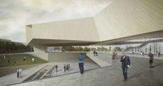 El  Museo de la Tolerancia  se ubica en el centro moderno de Jerusalén ,  un lugar rejuvenecido en el limite entre el espa...
