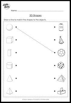 Solid Shapes Worksheets for Kindergarten. 20 solid Shapes Worksheets for Kindergarten. First Grade and Shapes Worksheets Distance Learning 3d Shapes Activities, 3d Shapes Worksheets, Basic Math Worksheets, 2d And 3d Shapes, Solid Shapes, 3d Shapes For Kids, Shapes Worksheet Kindergarten, Kindergarten Worksheets, Preschool Math