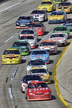 Talladega pack @dale Earnhardt Jr. leads-don't know what year it was