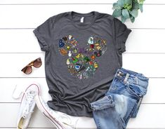 Your place to buy and sell all things handmade Cute Disney Outfits, Disney Themed Outfits, Disney Clothes, Disney Couple Shirts, Mickey Shirt, Travel Shirts, Disney Style, Chic Outfits, Dark Colors