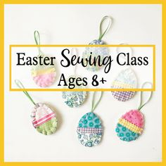 Online Easter Sewing Class . Online Easter Sewing Class for children. Learn to make your own Easter decorations. Saturday 3rd April 12.30pm, 1 hour long . . #eastercrafts #easter #easteronlineclasses Sewing Class, Sewing Basics, Easter Bunny, Easter Eggs, 3rd April, Scrap Material, Craft Corner, Learn To Sew, Needle And Thread