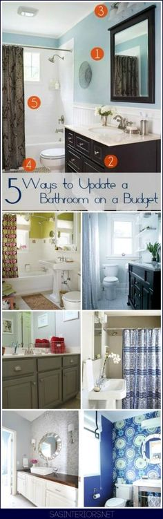 Bathroom Remodel  Ways To Upgrade A Bathroom On A Budget Dont Neglect A Needed Bathroom Revamp Because Of Cost No Experience