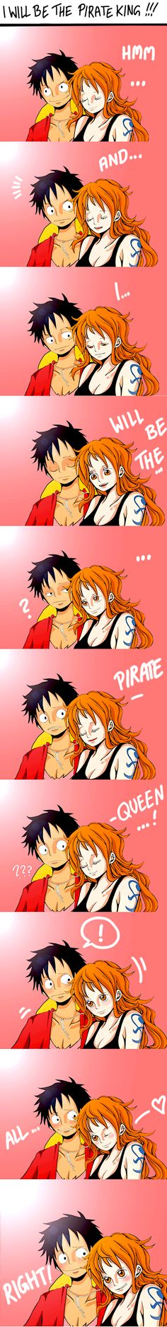 I don't ship them as I ship him and the pirate empress but it's cute