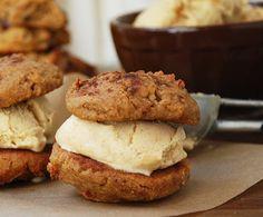 Pumpkin Ice Cream Sandwich Cookies