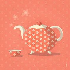 NIKO – Illustrateur › La théière Lisette - Thé - Tea - Tea-pot