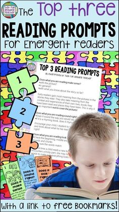 Reading Prompts - It's Easy To Be Overwhelmed By The Volume Of Great Prompts To Use With Emergent Readers These Are The Three They All Stem From. Simple Links Back To The Running Record And Teachable Moments. Reading Resources, Reading Activities, Guided Reading, Teaching Reading, Early Reading, Teaching Ideas, Reading Fluency, Reading Strategies, Classroom Resources