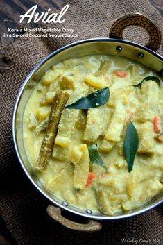 Avial - Kerala Mixed Vegetable Curry with Coconut and Yogurt Sauce - A Kerala Sadya Recipe - Vegetarian, Gluten Free - www.cookingcurries.com
