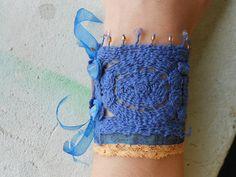 Available!!! Elfin Bracelet with LaceStonesLeatherCzech by TamsGeminarium, $36.00