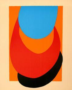 Terry Frost, Straw, Orange, Blue, 1972