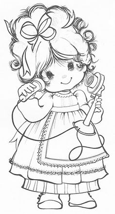 Cute little girl.