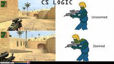 Makes sense... Counter Strike Logic