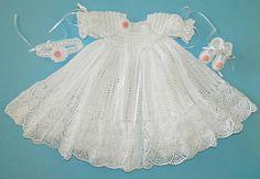 Custom Order Christening Gown from Cherry Hill Crochet