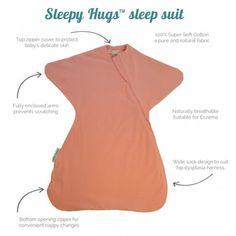 Help 'startle reflex'with sleepy hugs sleep suit - as seen on BABY BERRY