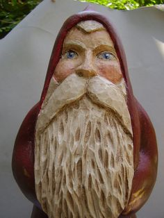 Hand Carved Old World Santa Claus by Villagecarver on Etsy, $139.00