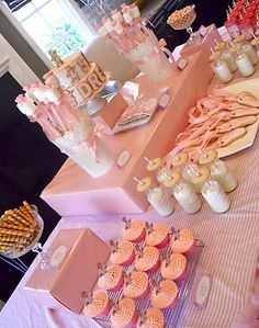 Baby girl shower. love the cookies and milk idea, cute