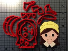 Pilgrim Girl Cookie Cutter Set