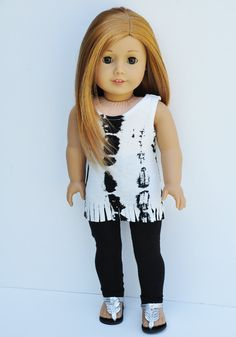 American Girl Clothes  White & Black by LoriLizGirlsandDolls, $24.00