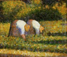 Farm Women at Work - by Georges Seurat