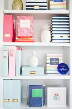 Office shelving: http://www.stylemepretty.com/living/2015/09/09/behind-the-scenes-emily-ley/ | Photography: CIHI Photo - http://www.cihiphoto.com/