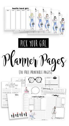 Happy planner printables - Free Printable Planner Babe pages – Happy planner printables Daily Planner Pages, Weekly Planner Printable, Planner Template, Calendar Printable, Schedule Templates, Daily Planners, Calendar Ideas, Planner Inserts, Goals Planner
