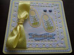 carte félicitations naissance chaussons