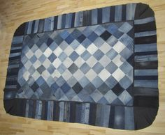 Old jeans made into a rug