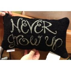 Disney Park Never Grow Up Decorative Toss Pillow Decorator *** You can find more details by visiting the image link. Disney Pillows, Disney Bedding, Peter Pan Bedroom, Disney Bedrooms, Book Pillow, Disney Home Decor, Never Grow Up, Baby Boy Rooms, Kids Rooms