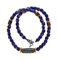 Venetian Millefiori, Krobo Powder Glass Beads #1306 | Chains | Jewelry — Deco Art Africa - Decorative African Art