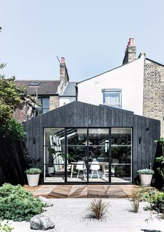 House Extension Design, Extension Designs, Glass Extension, Rear Extension, House Design, Crittal Doors, Larch Cladding, Victorian Terrace House, Grand Designs