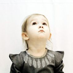 Grey dress for little girl by Grecha. Grecha kids.