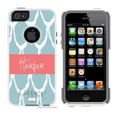 Love these designs!!!  iPhone 5 Otter Box Cases - personalized!