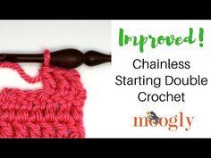 How to Crochet: Improved Chainless Starting Double Crochet (Left Handed) Ribbed Crochet, Crochet Cord, Single Crochet Stitch, Tunisian Crochet, Crochet Shawl, Double Crochet, Crochet Stitches Patterns, Stitch Patterns, Crotchet Stitches