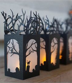 Paper Lanterns for Halloween Decorations!!!!  How do you make a Halloween even better? Halloween Paper Lanterns are perfect for your mantel, your