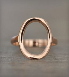 14k Gold Circle Ring / by Porter Gulch