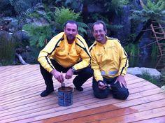 Directors Dean Atkinson and David pontifex. 2013 chelsea flower show winner, built by Atkinson Pontifex