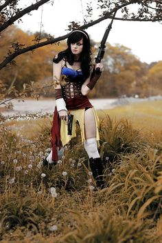 Badass Snow White...gun totin' is a requirement in that environment!