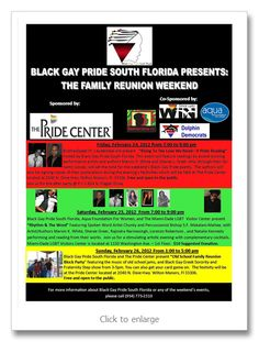 Black Gay Pride South Florida presents 'Family Reunion Weekend' Feb. 24-26 in Wilton Manors, South Beach