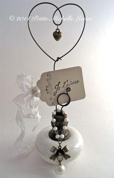 Vintage Door Knob Inspiration Holder - Photo Holder- Table Number Holder